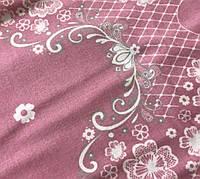 Фланелева (байкова) простирадло на гумці, Рожева, будь-які розміри, з наволочк.і без,турецька тканина