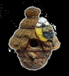 Кормушка для птиц Decoline Птичья хата (полистоун) KP2098(P)