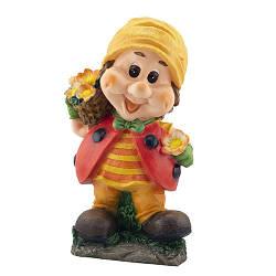 Садовая фигура Decoline Гном с горшком цветов(полистоун) G0129(P)