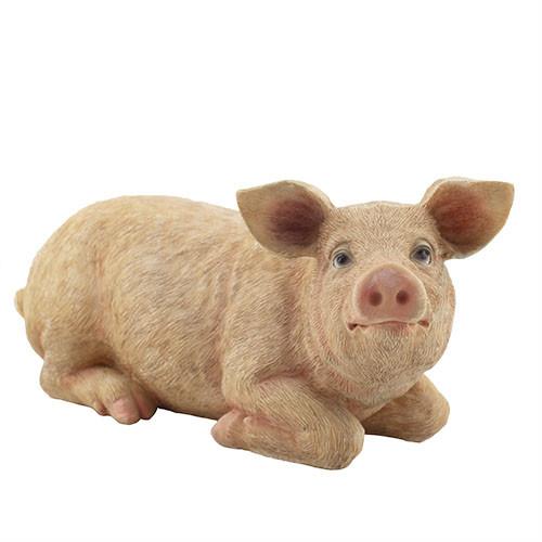 Садова фігура Decoline Свинка велика (полістоун) F4038(P)