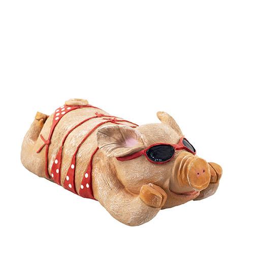 """Садовая фигура Decoline """"Свинка в купальнике""""  (полистоун) F4066(P)"""