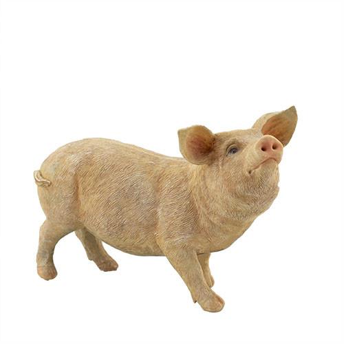 "Садова фігура Decoline ""Свинка маленька"" (полістоун) F4033(P)"