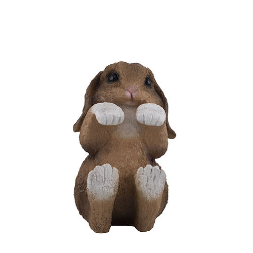 Садова фігура Decoline Кролик 2 (рижий) (полістоун) F4062(P)