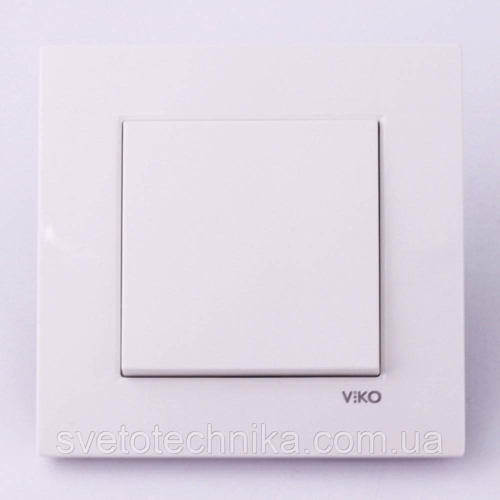 Розетка  Ovivo Grano  одинарная с крышкой и заземлением (белый)