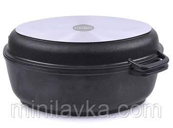Гусятниця Біол антипригарна з кришкою-сковородою, 2,5 л Г301П