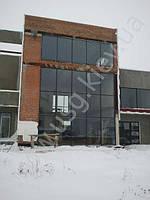 Остекление фасада алюминиевой системой Etem E-85