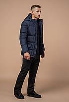 Фірмова зимова куртка чоловіча колір темно-синій модель 2609 (ЗАЛИШИВСЯ ТІЛЬКИ 46(S)), фото 3
