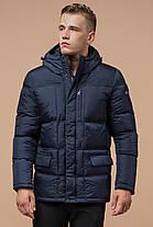 Фірмова зимова куртка чоловіча колір темно-синій модель 2609 (ЗАЛИШИВСЯ ТІЛЬКИ 46(S)), фото 2