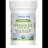 Витамины и минералы Puritans Pride Organic Vitamin B-12 1000 мкг 30 таб Скидка! (232873)