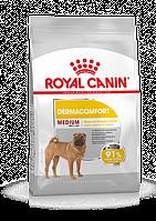 Корм Royal Canin Medium Dermacomfort, при кожных раздражениях и зуде, для средних пород, 10 кг     244210019