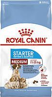 Корм Royal Canin Medium Starter, для щенков до 2-х месяцев, беременных и кормящих сук, 12 кг
