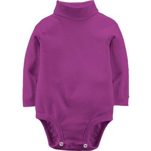 Фіолетовий дитячий боді з довгими рукавами