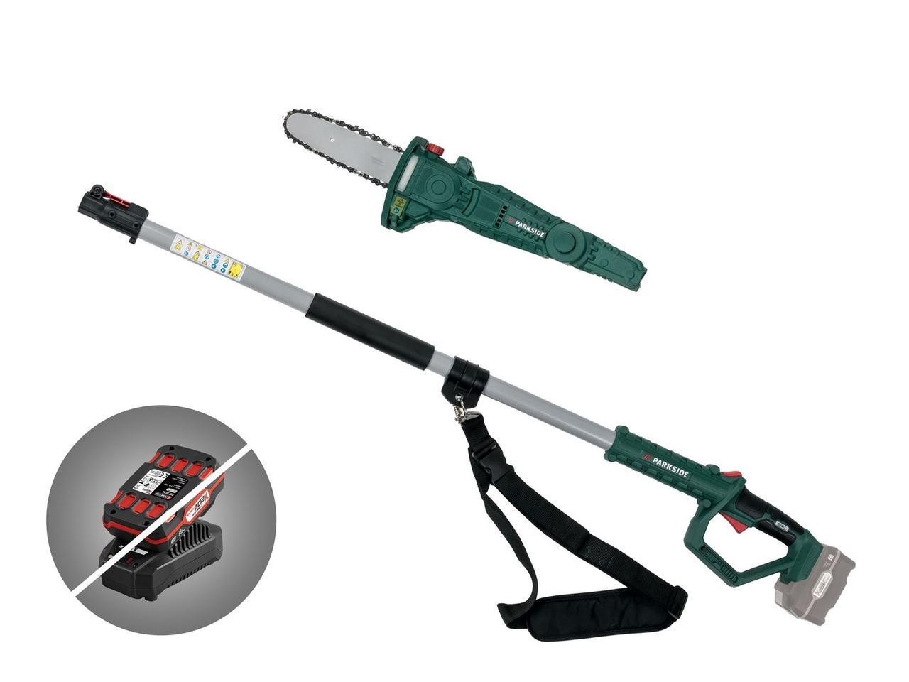 Аккумуляторная телескопическая пила (секатор - высоторез) Parkside PAHE 20 Li A1 (Без аккумулятора / без