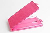 Чехол флип для Meizu MX4 розовый