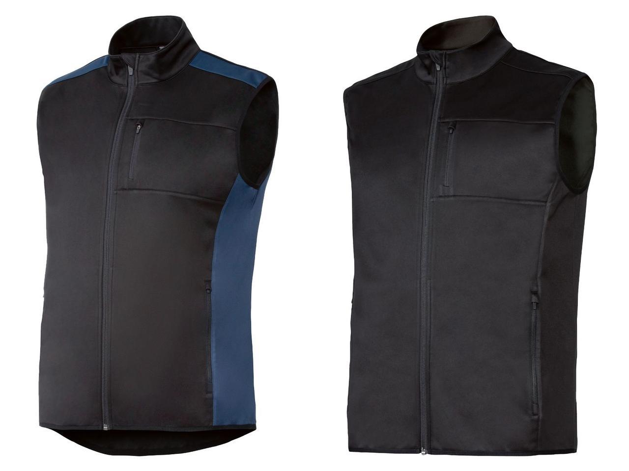 Мужской рабочий жилет PARKSIDE (черный или черный с  синим)