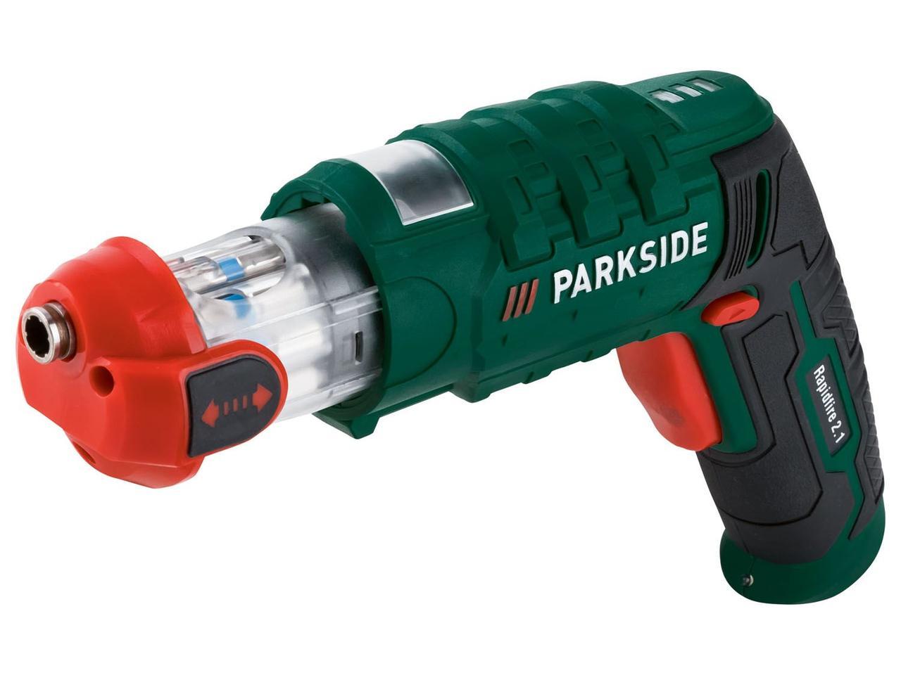 Аккумуляторная отвертка со сменной насадкой PARKSIDE Rapidfire 2.1