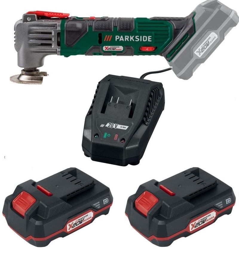 Багатофункційний акумуляторний інструмент PARKSIDE PAMFW 20-Li A1 (АКБ 20 2 А/ч - 2 шт.)
