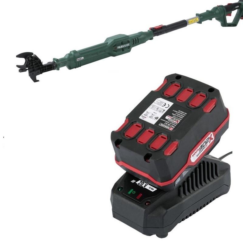 Акумуляторний секатор - висоторіз PARKSIDE PALA 20-Li A1 (АКБ 20 4 А/ч)