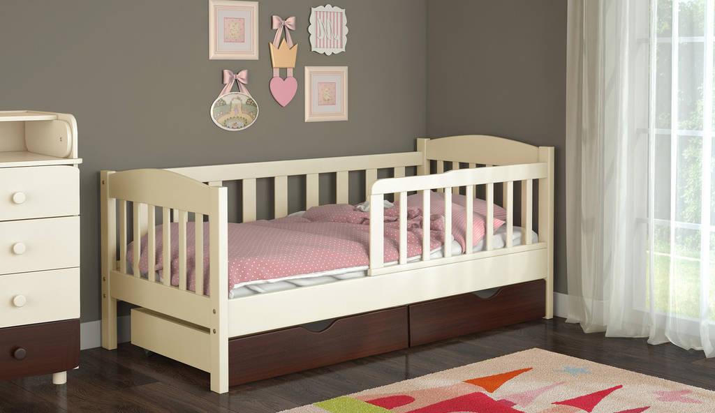Детская кровать с бортиками от 3 лет Ассоль 160*70 см