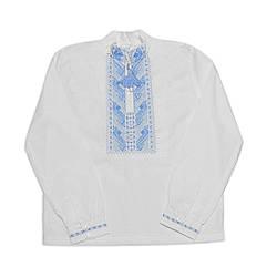 Вышиванка для мальчика голубой Орнамент 1536-0022 Valeri tex