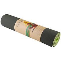 Коврик World Sport для йоги и фитнеса 2слоя 6мм зеленый SKL11-282173, фото 1