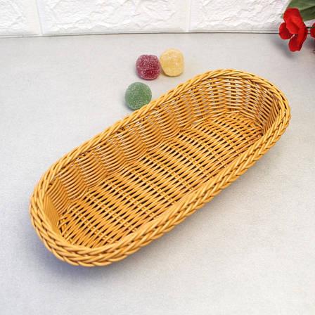 Плетённая корзинка для столовых приборов светло-коричневая HLS (7300), фото 2