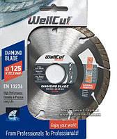 Алмазний круг Wellcut Standart 125мм*7мм*22,23 мм Турбо (222-125/22)