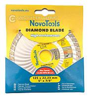 Алмазний круг NovoTools Basic 125 мм*7 мм*22,23 мм Турбоволна (DBB125/TW)