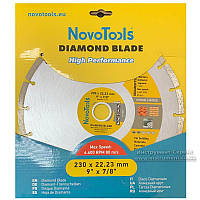 Алмазний круг NovoTools Basic 230 мм*7 мм*22,23 мм Плитка (DBB230/S)