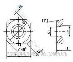 Твердосплавна Пластина SPCW-1204 P25 покрита