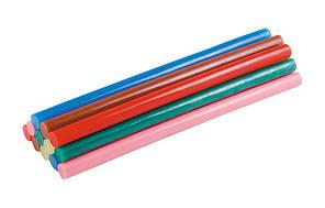 Стрижні клейові 11,2х200 мм, 12 шт, кольорові MASTERTOOL (42-0155)