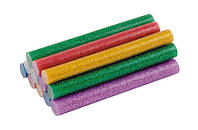 Стержни клеевые 11,2х100 мм, 12 шт, цветные перламутровые MASTERTOOL (42-0156)