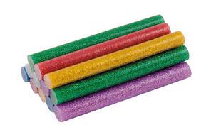 Стрижні клейові 11,2х100 мм, 12 шт, кольорові перламутрові MASTERTOOL (42-0156)