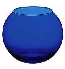 Ваза Flora WorkShop сфера 79 мм Синє скло psgPB-43407EB, КОД: 945482