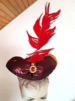 Карнавальная  восточная челма султана бордовая б/у