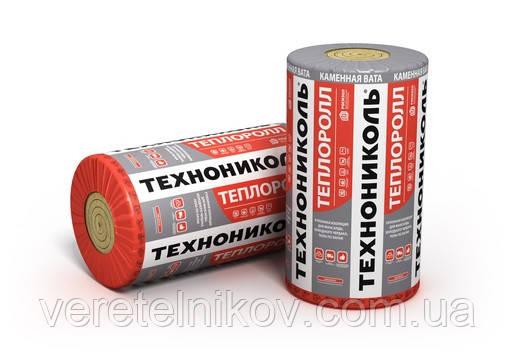 Теплоролл 100 мм. - рулонная тепло - звукоизоляция 28 кг/м.куб.