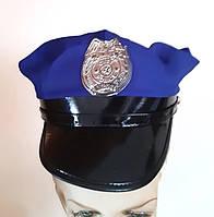 Карнавальна шапка Поліцейського синя б/у