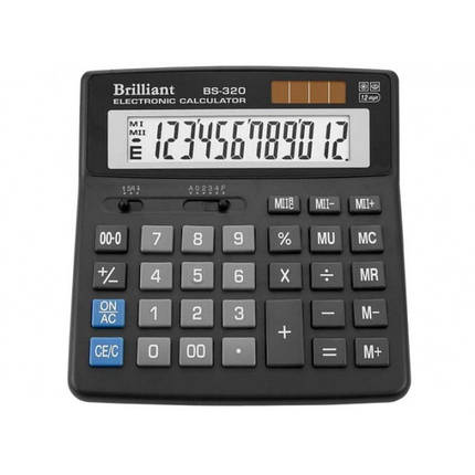 Калькулятор 12 разрядный Brilliant BS-320, фото 2