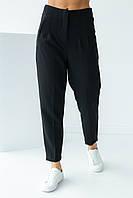 Класичні брюки зі стрілками PERRY - чорний колір, L (є розміри)