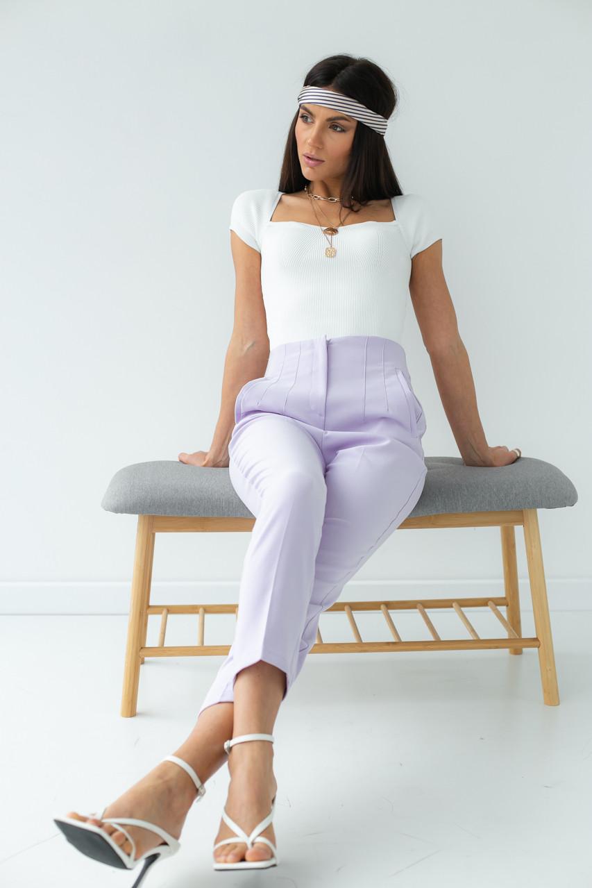 Классические брюки со стрелками PERRY - лавандовый цвет, L (есть размеры)