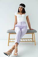 Классические брюки со стрелками PERRY - лавандовый цвет, L (есть размеры), фото 1