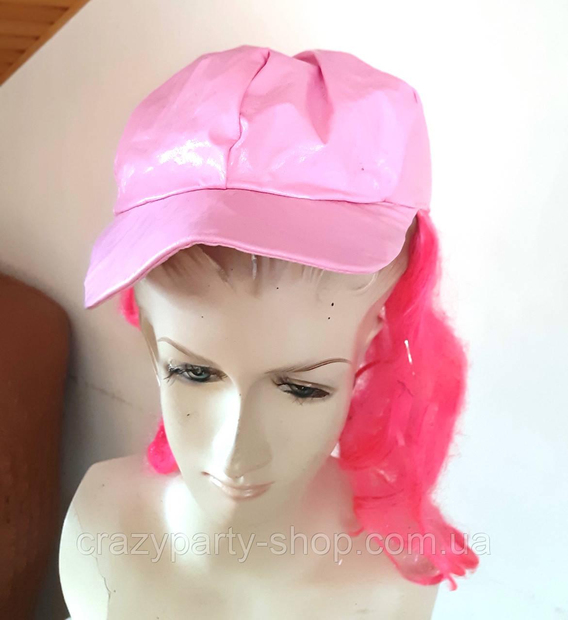 Карнавальная  кепка розовая  б/у