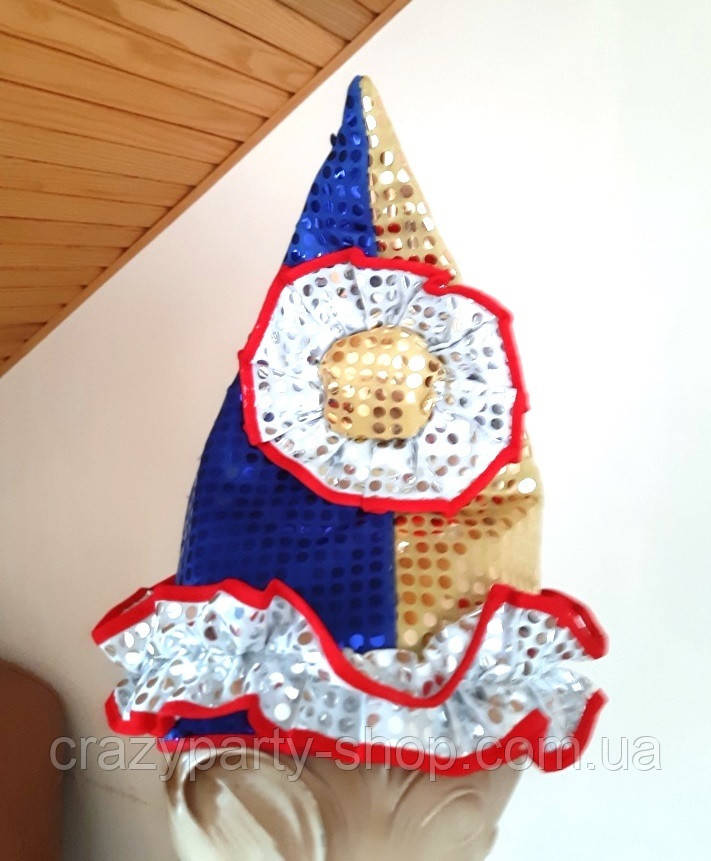 Карнавальна шапка Петрушки різнобарвна б/у