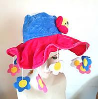 Карнавальний капелюх з квітами б/у