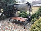 Гойдалка садова металева кована з розкладним диваном, фото 4