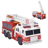 Пожарная машина игрушка детская большая с водой из шланга и выдвижной лестницей Fire Truck со светом звуком