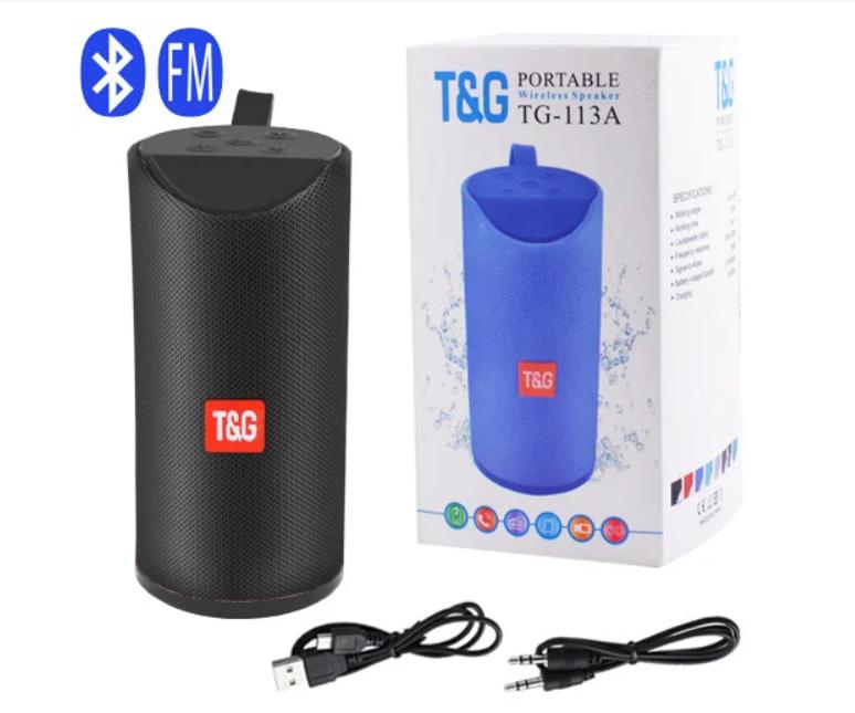 Портативная bluetooth-колонка SPS UBL TG113A, c функцией speakerphone, радио, черная