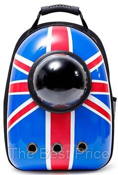 Рюкзак для переноски животных с иллюминатором CosmoPet для кошек и собак British