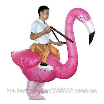 Надувной костюм Всадник на фламинго