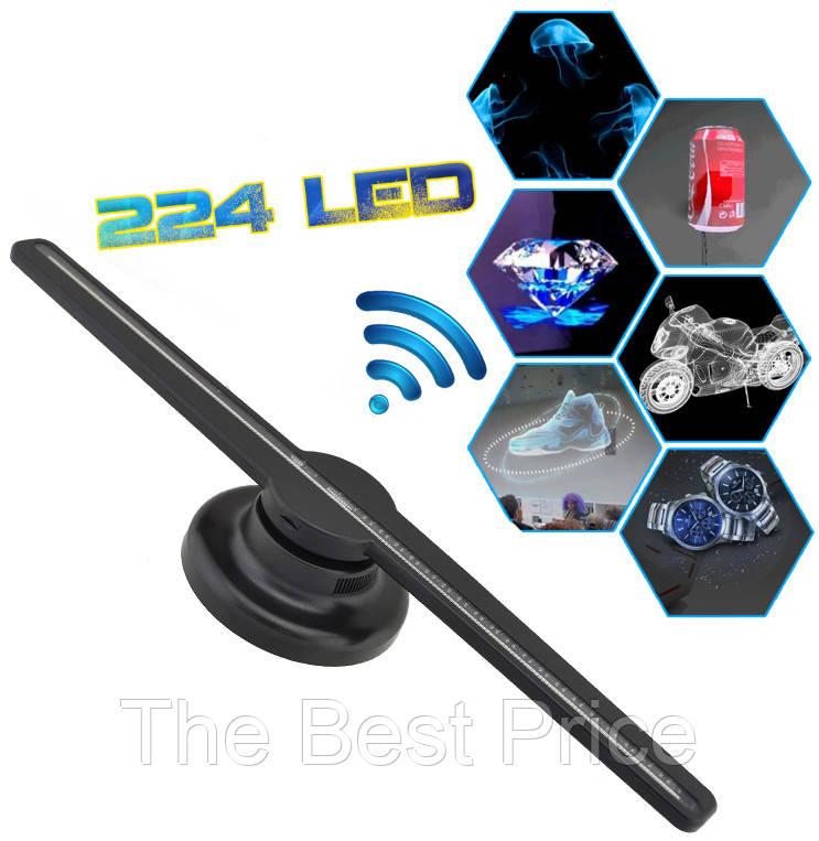 3D голографический проектор вентилятор Hologram Fan Z1 43 см карта памяти Black